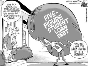 Student education loan and cfa fee